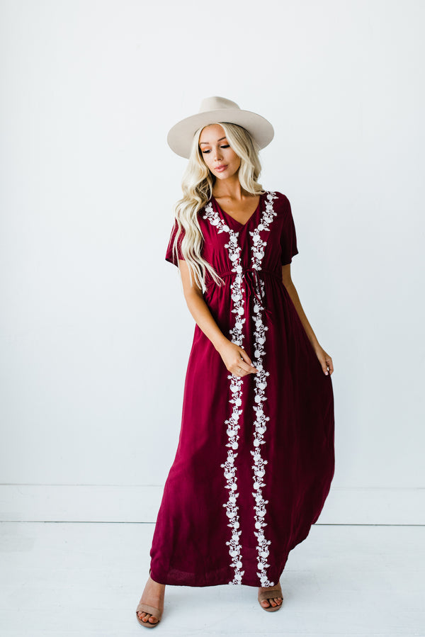 Lula Dress in Burgundy