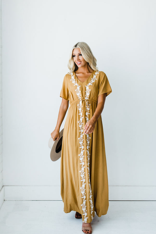 Lula Dress in Mustard