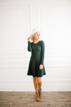 Riley Dress in Green