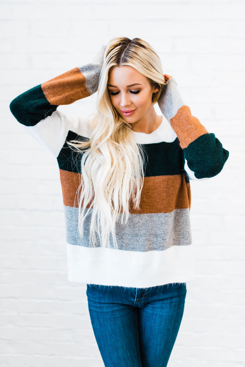 Striped soft sweater