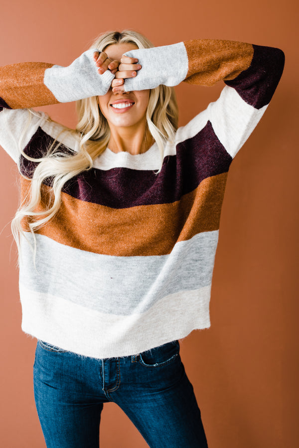 Ophelia Sweater in Maroon