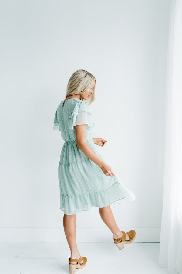 Amy Dress in Sage