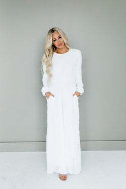 White temple dress