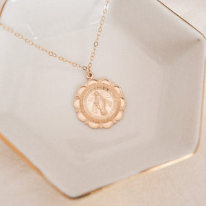 Miraculous Medal Medallion Necklace