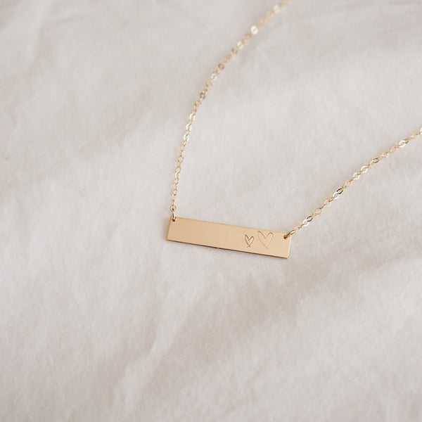 New Heart Bar Necklace