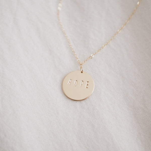 Hope Disc Necklace