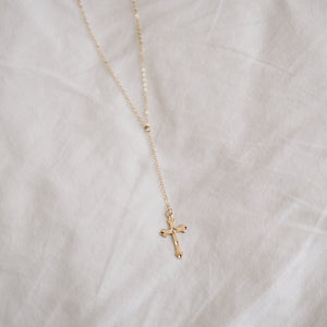 Cross Lariat Style Necklace