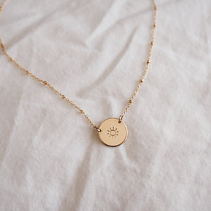Sun Disc Necklace (Hope Chain)