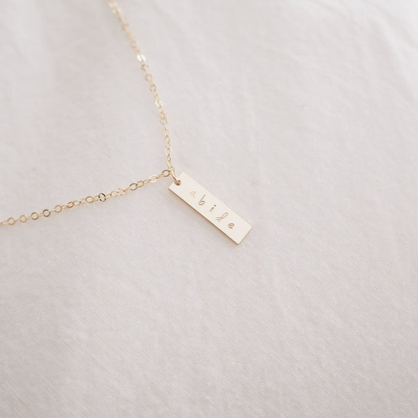 Abide Mini Bar Necklace