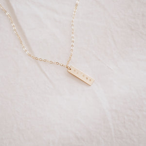 Ablaze Mini Bar Necklace