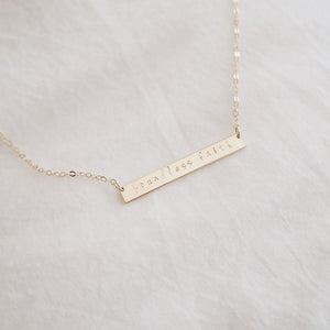 Boundless Faith Bar Necklace