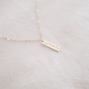 Bravely Mini Bar Necklace