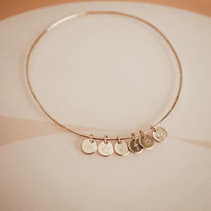 Hammered Charm Bangle