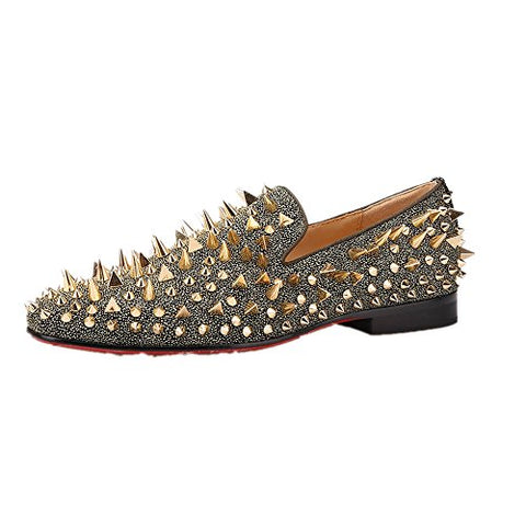 Spiked Nubuck Leather Loafer Shoe