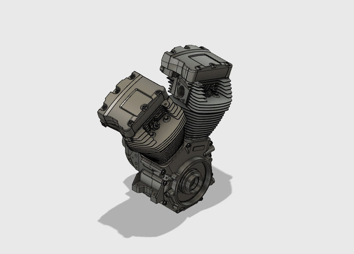Twin Cam 88 motor 3D CAD Model