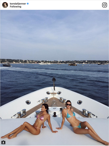 Kendall & Kourtney Wear Legally Blonde Bikinis
