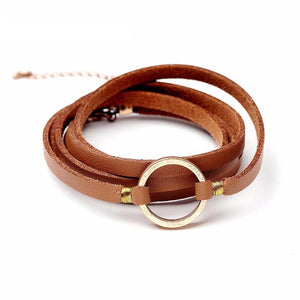 Misty Leather Rope Bracelet