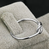 Genuine 925 Sterling Silver Knot Ring