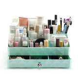 Diamond Makeup Drawer Compartment in Mint