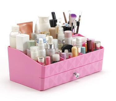 Diamond Makeup Drawer Compartment in Pink