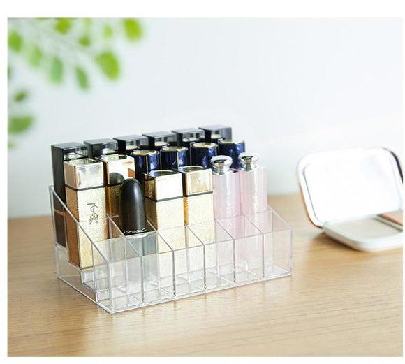 Transparent Lipstick Storage Box