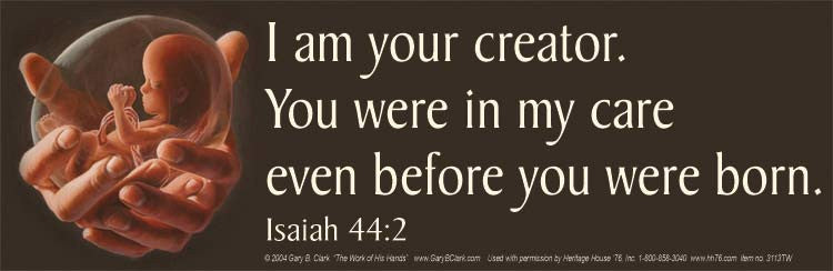 I am your creator. You were in my care even before you were born.