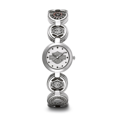 Harley-Davidson Coin Link Women's Watch