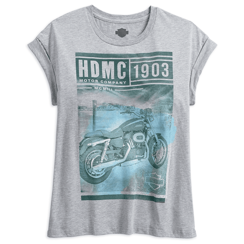 Harley-Davidson Photo Real Rolled Sleeve Women's Tee