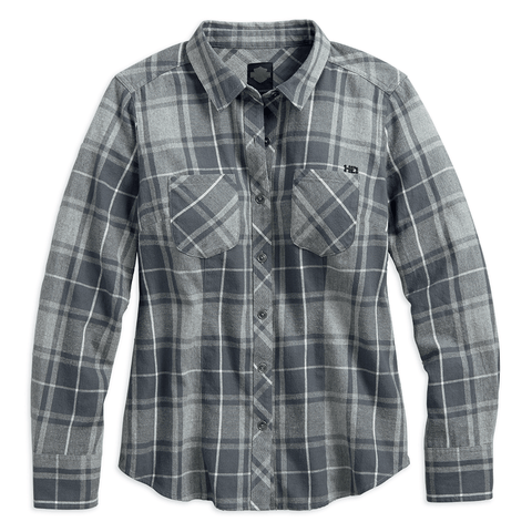 Harley-Davidson Grey Plaid Women's Shirt