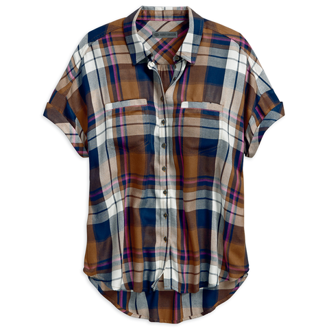 Harley-Davidson Rayon Plaid Women's Shirt