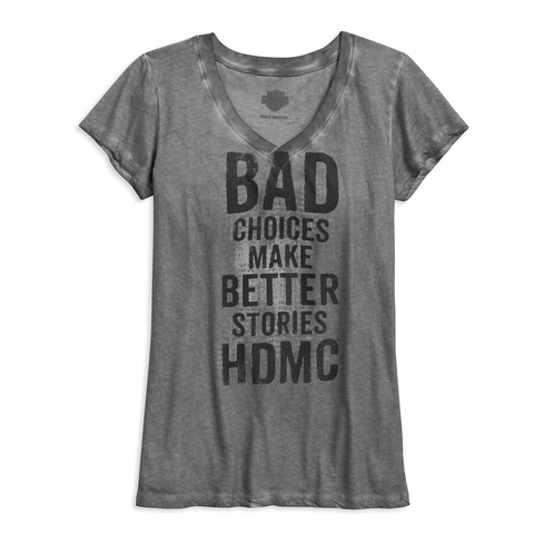 Harley-Davidson Bad Choices Women's V-Neck Tee