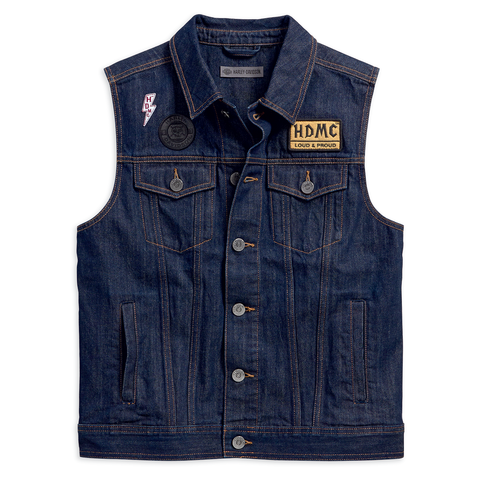 Harley-Davidson Loud & Proud Men's Denim Vest