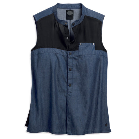 Harley-Davidson Chambray Women's Sleeveless Shirt