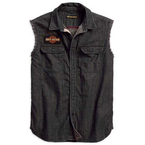 Harley-Davidson Sleeveless Denim Men's Shirt