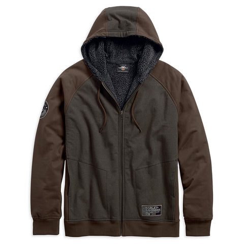 Harley-Davidson Colourblock Men's Fleece Hoodie