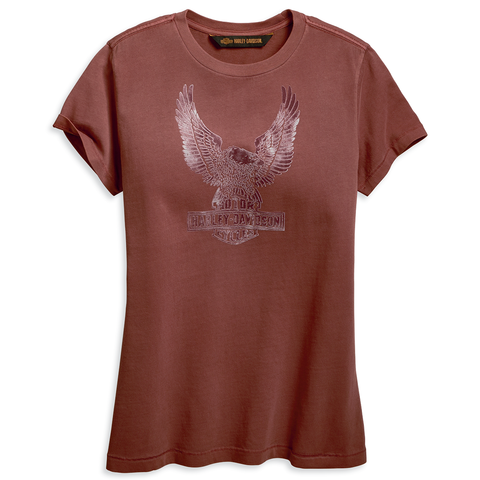 Harley-Davidson Flocked Eagle Women's Tee