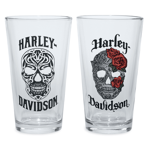 Harley-Davidson Skull Pint Glass Set