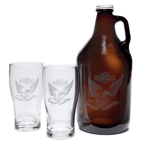 Harley-Davidson Growler & Pint Glasses