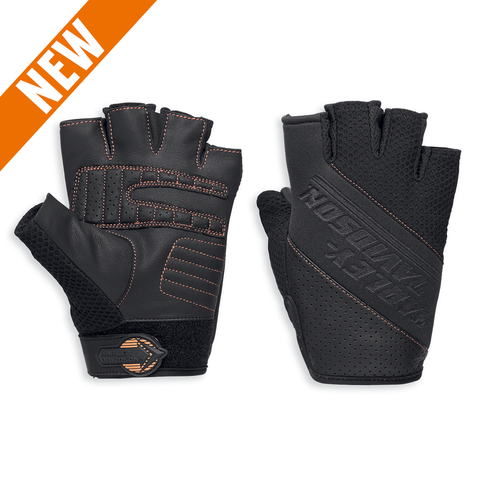 Harley-Davidson Alridge Coolcore Technology Men's Mesh Fingerless Gloves