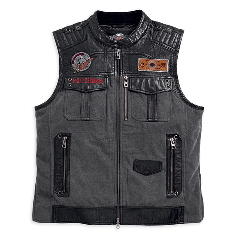 Harley-Davidson Victor Textile & Leather Men's Vest
