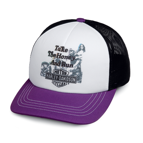 Harley-Davidson Take the Honey & Run Women's Trucker Cap