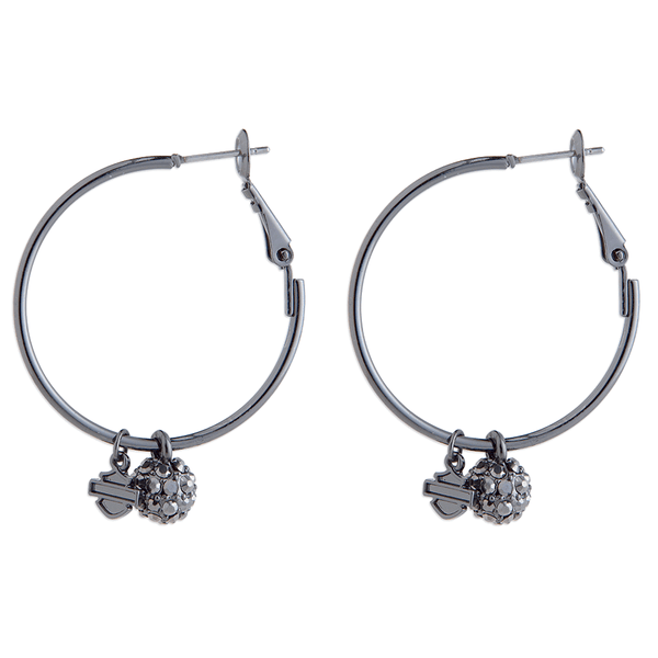 Harley-Davidson Fireball Women's Hoop Earrings