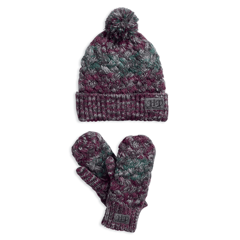 Harley-Davidson Space Dye Women's Knit Hat & Glove Set