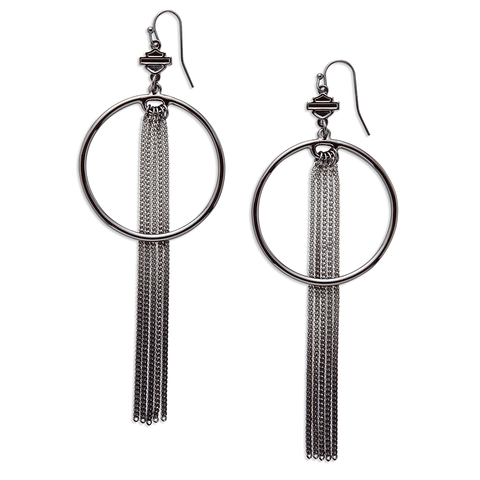Harley-Davidson Tassle Drop Earrings