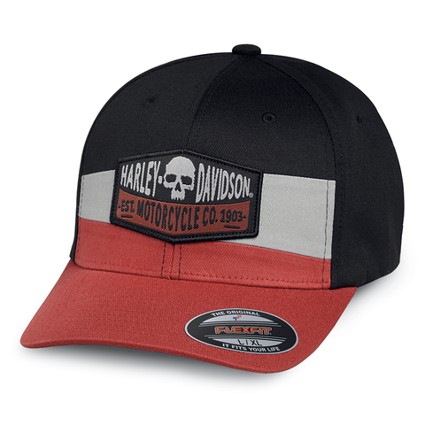 Harley-Davidson Skull Patch Men's Stretch Cap