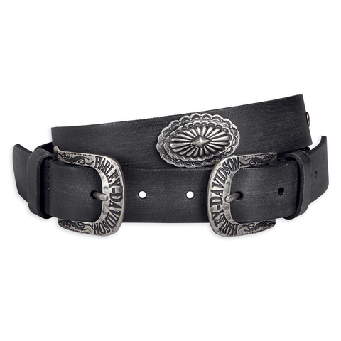 Harley-Davidson Double Buckle Women's Leather Belt