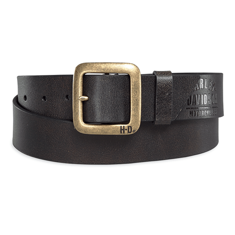 Harley-Davidson Brass Finish Buckle Men's Belt
