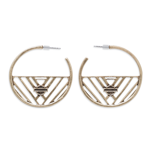 Harley-Davidson Geometric Women's Hoop Earrings