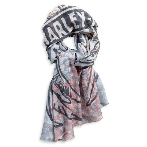 Harley-Davidson Sheer Oversized Eagle Women's Scarf