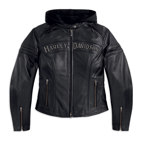 Harley-Davidson Miss Enthusiast Women's 3-in-1 Leather Jacket